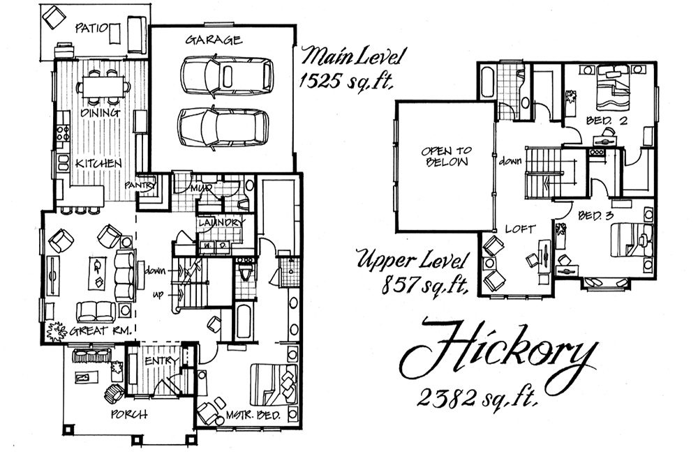 Hickory floor plan