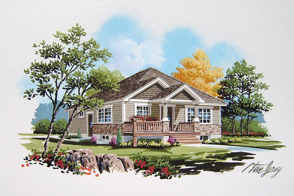 Ontario home rendering